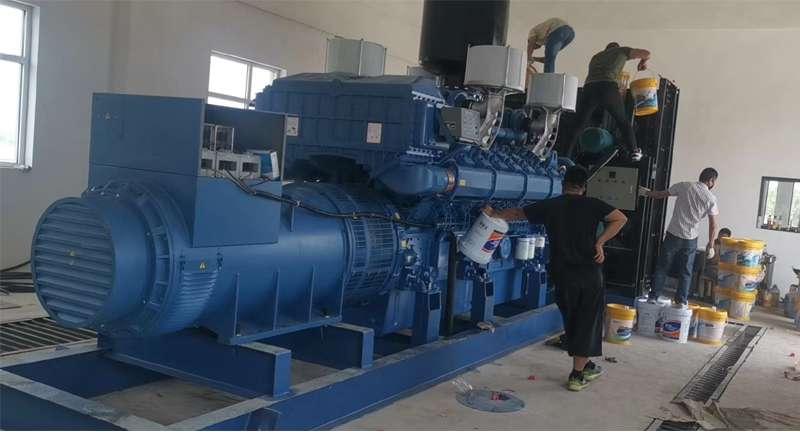 guang西玉柴机器股份1500KW柴油fa电机现在ji林chang春安装